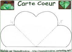 Gabarit de la Carte Coeur... à décorer et découper: