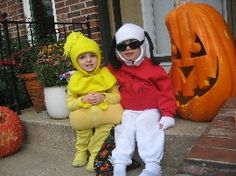 Snoopy and Woodstock costumes