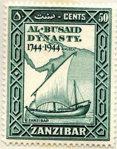 Zanzibar Al Busaid Dynasty Anniversary 50 Cents 1944