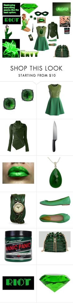 """""""Green With Envy"""" by queenharley666 ❤ liked on Polyvore featuring Lauren Ralph Lauren, Chicwish, OXO, NOVICA, Alberto Moretti, Manic Panic NYC, WithChic and Z Spoke by Zac Posen"""