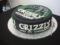 Grizzly Wintergreen Dip Can Cake - This groom's dip of choice was Grizzly Wintergreen. :)