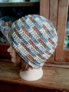 a27426694419a New Hand Crocheted Handmade Women s Men s hat beanie cap in multi-colors