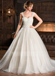 993919e202 Ball-Gown Sweetheart Chapel Train Taffeta Tulle Wedding Dress With Ruffle  Beading Sequins (002056698