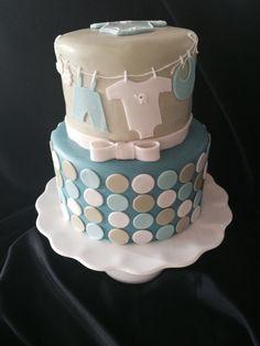 Baby shower Clothes line cake    http://facebook.com/maritasdulcescreaciones