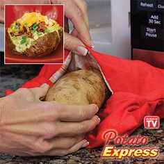 Product #63682 - the Potato Express - perfect baked potatoes in your microwave every time!