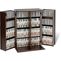 @Overstock.com - Organize your favorite DVDs with this inconspicuously spacious media storage cabinet by Everett. This attractive furniture piece features MDF and composite wood construction with a durable laminate finish, hinged doors and fully adjustable shelves.http://www.overstock.com/Home-Garden/Everett-Locking-DVD-CD-Media-Storage-Cabinet/4354590/product.html?CID=214117 $149.99