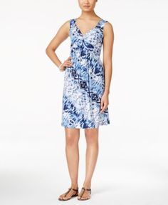 Style & Co. Petite Printed Twist-Front Sleeveless Dress, Only at Macy's | macys.com