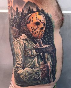 Jason Voorhees Side Tattoo