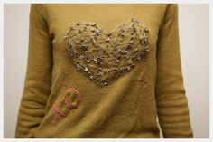 Valentines Heart Sweater DIY : DIY Fashion by Trinkets in Bloom