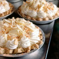 Triple Coconut Cream Pie from Dahlia Lounge in Seattle Washington, image