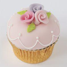Pink Rose Garden Cupcake