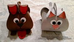 Super-adorable dog and cat Curvy Keepsake boxes by Maria Fennelly