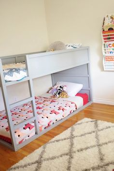Holy moly have I get a LOT of requests about the details of the bunk beds in my kids shared room! I'm so glad you guys love them as much as we do and figured it's probably easiest to po…