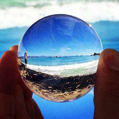 büyüteç gibi kristal ( fish eye - cam gözü ) instagram