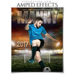 Ashe Design 16x20 Amped Effects Sports Photography Photoshop Templates Breaking Ground Soccer