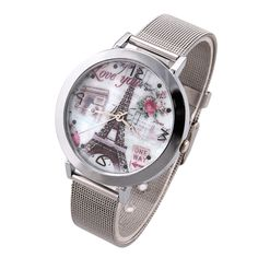 Women Watches Flower Tower Dial Vintage Watch Lady Quartz Wristwatches Promotion New