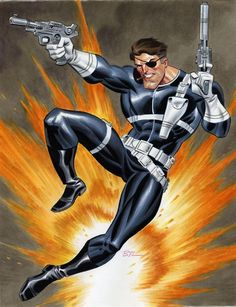 Nick Fury by Bruce Timm