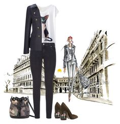 """Untitled #1558"" by imageconsultingzurich ❤ liked on Polyvore featuring MISCHA, Paige Denim, French Connection and N°21"