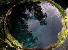 Natural scrying pool