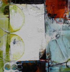 SEEKER 24X24 : Bright & Bold Abstracts : Julie Havel Fine Art