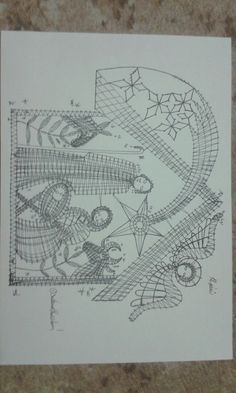 Betlém Bobbin Lace Patterns, Felt Patterns, Cute Embroidery, Embroidery Stitches, Bobbin Lacemaking, Vbs Crafts, Point Lace, Needle Lace, Lace Making