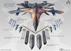Spaceship Art, Spaceship Design, Robot Concept Art, Weapon Concept Art, Concept Ships, Concept Cars, Fighter Aircraft, Fighter Jets, Space Fighter