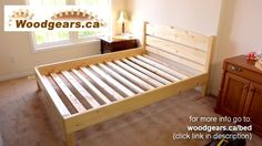 Queen size bed from 24 lumber DIY Bed Frame Plans, Full Bed Frame, Diy Bed Frame, Bed Plans, Diy Queen Bed Frame, Wooden Bed Frames, Wood Beds, Diy Bett, Diy Holz