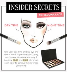 Its the weekend!! Get the look!!   Check out our INSIDER SECRET on how to go from DAY to NIGHT!   Shop our EB09 Shop our EB13  Shop our 28 Neutral Palette