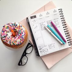 """""""I could use that donut right about now. thanks for sharing, @wife.mama.mess 💗 #gettoworkbook"""" Thanks For Sharing, Planners, Thankful, Books, Instagram, Libros, Book, Organizers"""