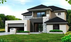 44 Awesome Simple House Design for Your Inspiration Modern House Design Awesome design House Inspiration Simple Simple House Exterior, Simple House Design, Modern House Design, Dream House Exterior, 2 Storey House Design, Two Storey House, Double Storey House Plans, Dream House Plans, Facade House