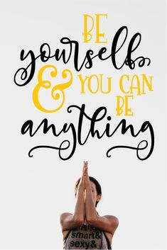 Aspire to be completely you!! Wall sticker/decal