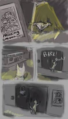 Bonnie's dog when he was human child.... Feels ;___;