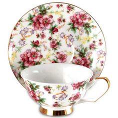 Shades of Summer Bone China Tea Cup