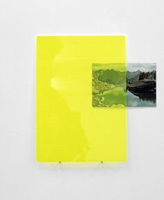 Fiona Curran, It's hard to get lost when you don't know where you're going, 2010, acrylic sheet and postcard