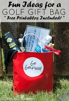 Golf gift bags for Dad! #GolfGifts