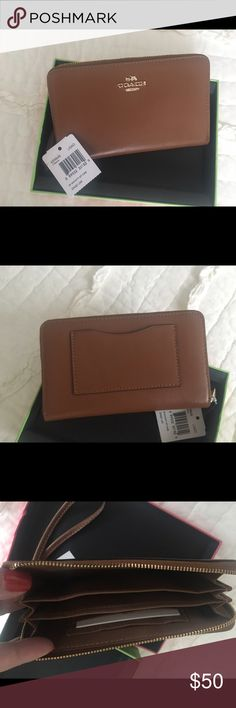 Coach Wristlet Brand New. With tag and original box Coach Bags Clutches & Wristlets