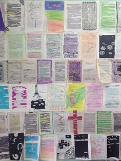 """""""Reverse Found Poetry"""" as am ice breaker. Students get to know each other creatively. Also students love the chance to rip apart books and write on pages. Plus for teachers, they make colorful and creative decorations!"""