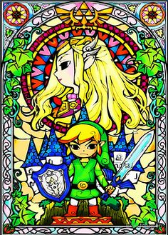 Zelda Wind Waker Stained Glass  by Erik Johnson