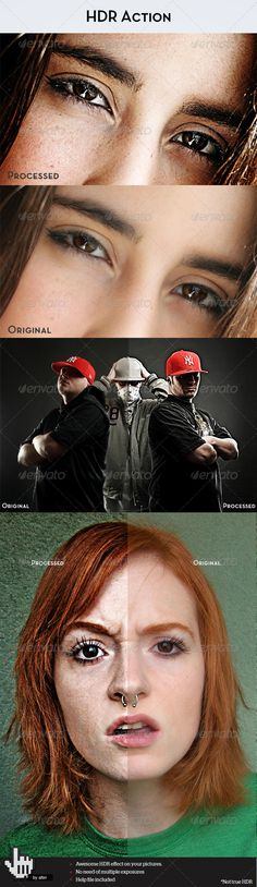 Buy HDR Action by betoalanis on GraphicRiver. Update – 5 April 2012 – Speed Improvements – the actions now has less steps, runs faster and doesn't break in some si. Effects Photoshop, Photoshop Actions, Film Effect, Light Leak, How To Run Faster, Special Effects, Hdr, Grunge, Films
