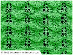 Lace knitting. Chart no.15