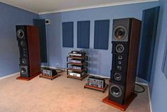 Dunlavy SC6 speakers powered by Manley tube electronics