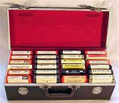 8 track tapes-one of my most favorite memories from my childhood is listening to music on my stereo with the 8 track player!!!