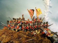 Quatre Bras 1815. 28 mm Perry modified with some Victrix and Warlord heads. Painted by Francesco Thau
