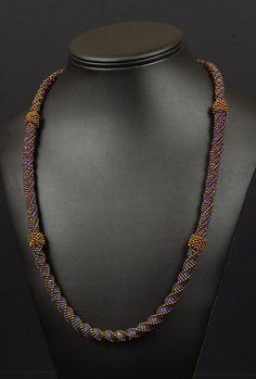 Beadwoven Necklace Tutorial - Triple Twist Necklace. $10.00, via Etsy.