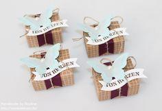Stampin Up Box Goodie Gastgeschenke Verpackung Schachtel Matchbox Stempelset Herzklopfen Stanzer Mini Schmetterling Stanzer eleganter Schmetterling Framelits Famose Fähnchen #stampinup