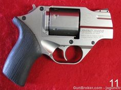 Chiappa Rhino - a revolver that fires from the bottom of the cylinder. Neat idea, though the gun is rather thick from the top bar to the trigger guard. I want to shoot one.