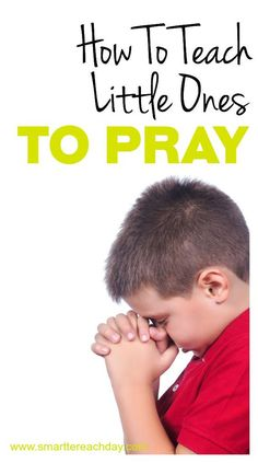 """HOW TO TEACH LITTLE ONES TO PRAY - Teaching little children to pray can actually be tricky! What do you say to God? How do you pray for others? This post has a three-step process that is SUPER SIMPLE to implement and remember. Tips for making a """"family prayer ring"""" to pray for friends and family. A CREATIVE AND EASY memory device so kids can remember HOW to pray for others. Plus lots of humorous, grace-filled advice!"""