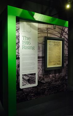 The 1916 Rising Section. Here in this section of the An Post Museum, visitors can see the copy of the Proclamation.  This section is also home to Ireland's largest Pepper's Ghost.