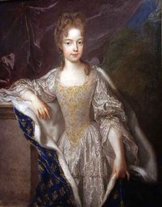 ca. 1697 - artist Francois de Troy - Marie Adélaïde of Savoy (1685 – 1712) was born a Princess of Savoy and was the wife of Louis de France, Duke of Burgundy.