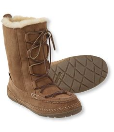 "<p>Now you can bring the warm, cozy feeling of your favorite slippers with you everywhere. Our warm, shearling-lined boots combine beautiful style and water-resistant protection with plush, slipper-like comfort. Genuine sheepskin shearling has been handpicked to ensure the quality and comfort is good enough for these boots to earn their name – because here in Maine, ""wicked good"" is as good as you can get. Upper features durable water-resistant treatment to keep the elements at bay ..."